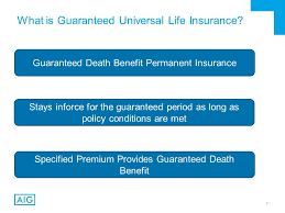 2 what is guaranteed universal life insurance