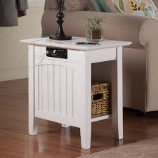 atlantic furniture charlotte chair side table with charging