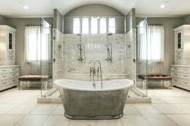 pictures of luxury showers beautiful master bathroom with large shower cast iron bathtub and marble floors