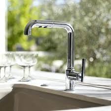 purist kitchen faucet kohler purist single hole kitchen sink faucet with 8 pullout spout with kohler