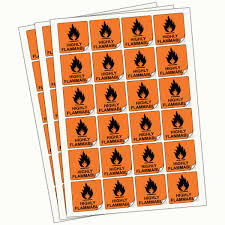 Highly Flammable Labels Chip Regulation Labels Small