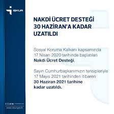 """İŞKUR on Twitter: """"Nakdi Ücret Desteği 30 Haziran'a Kadar Uzatıldı.  👇🏼👇🏼👇🏼 https://t.co/ZxmcNaMkNo… """""""