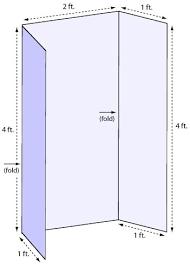Tri Fold Sizes Poster Board Tri Fold Presentation Board Template Tri
