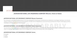 Последние твиты от jackson insurance services (@jissslc). Jackson National Life Insurance Company Mission Vision Values Comparably