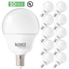 5000k Led Light Bulbs Details About Sunco Lighting 10 Pack G14 Globe Led Light Bulb 5 Watt 5000k Daylight