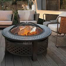 round fire pit xl large outdoor garden