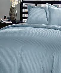 love this light blue damask stripe cotton duvet cover set