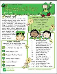 schools newsletter ideas free newsletter march ideas printables by karens kids school room