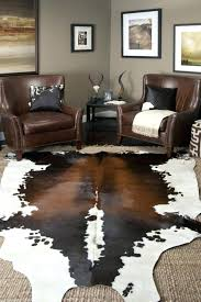 cowhide rug photo 1 of 6 large size coffee rugs natural with design 19