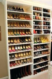 walk in closet shoe rack closet shoe rack diffe shelf heights for diffe kinds of shoes