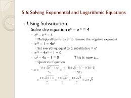 5 6 solving exponential and logarithmic equations