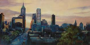 indianapolis painting indy city scape by donna shortt
