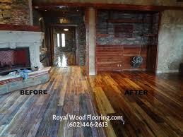 impressive wood flooring scottsdale reclaimed antique distressed wood flooring installation