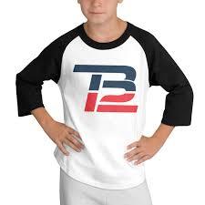 Amazon Com Teens Baseball Jersey Russell Wilson Logo 3 4