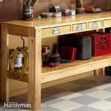 Basement Designs Plans Extraordinary Simple Workbench Plans The Family Handyman