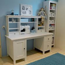 hemnes desk with add on without panel behind it plus shelf