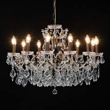 large shallow twelve arm chandelier french