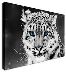 snow leopard wall art uk