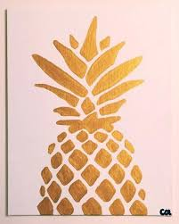 Easy paintings on canvas Pinterest Easy Paintings On Canvas Gold Metallic Pineapple Painting Ready To Ship Acrylic On Canvas Simple Pineapple Hanging Lounge Chair Blankominfo Easy Paintings On Canvas Hanging Lounge Chair Blankominfo