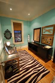 splashy zebra print rug in home office eclectic with ikea hemnes daybed next to decorating a dresser alongside ghost chair and sewing room
