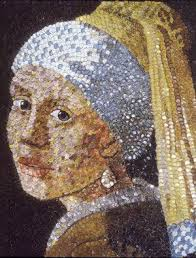 best girl a pearl earring remixed images  bottle cap version of girl a pearl earring art by molly b