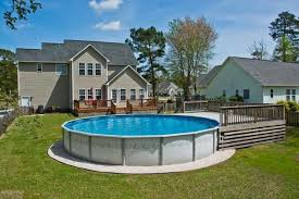 above ground home pools. Exellent Home This Round Aboveground Pool Has A Small Deck On One End But Other And Above Ground Home Pools L
