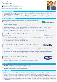 Cv Consulting Cv Templates Resume Templates Management Consulting Toolkit