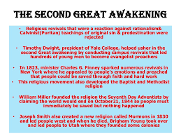 society culture and reforms the second great awakening