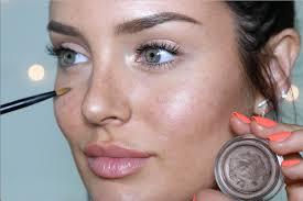 drawn freckles bridal makeup