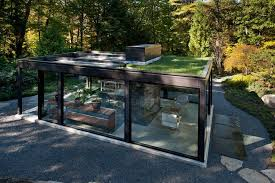 Garden structures ideas shed modern with glass doors indoor outdoor potted  plants