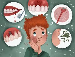 tooth implant infection signs antibiotics complications photos included