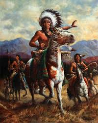 717x900 the chief painting by harvie brown american indian painting