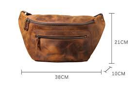 <b>PNDME vintage crazy</b> horse cowhide men chest bag multi function ...
