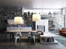 Colorful Industrial Dining Room