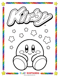 You can print or color them online at getdrawings.com for absolutely free. Play Nintendo Releases Free Kirby Coloring Book Pages Gonintendo