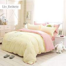 yellow duvet cover pale yellow and pink solid bedding set comforter duvet cover active printing set