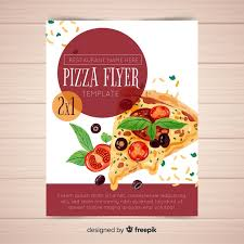 Watercolor Pizza Flyer Template Vector Free Download