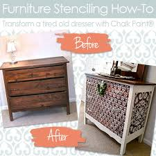 painted wood furnitureHow to Stencil Wood Furniture With Chalk Paint Decorative Paint
