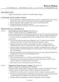 Sample Resume Supply Chain Manager Analyst Manufacturing P1 ...