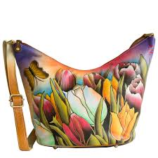 women s hand painted leather bag designer trendy fl genuine leather handbag