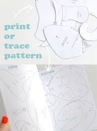 Animal Patterns To Trace Print Or Trace Toy Patterns My Poppet Makes
