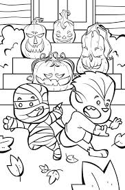 Looking for some fun the big graphics on these halloween themed coloring pages make them especially great for younger yay!! 30 Cute Halloween Coloring Pages For Kids