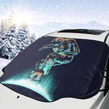 Windshield Sun Shades With Designs Amazon Com Polue Design Space Grind Car Windshield Sun