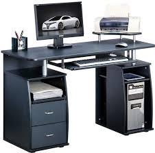 black computer desk with keyboard tray black computer desks