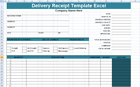 Excel Delivery Delivery Receipt Template Excel Delivery Receipt Sample