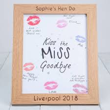 personalised hen party photo frame