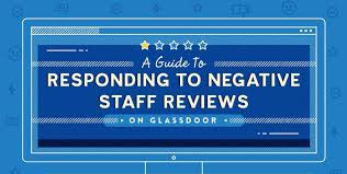 a guide to responding to negative staff reviews on glassdoor header image
