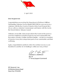 letter of recommendation army form