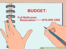 image titled plan a bathroom renovation step 1