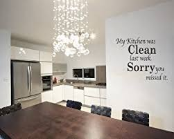 dining room wall art amazon. my kitchen was clean funny dining room quote wall art decal sticker vinyl removable letters amazon n